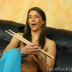 Felicity Feline Uses Drumsticks In Her Pussy